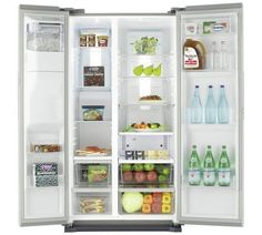 Buy Samsung RS7667FHCSL American Fridge Freezer - Silver at Argos.co.uk, visit Argos.co.uk to shop online for Fridge freezers, Large kitchen appliances, Home and garden #HomeAppliancesFreezers