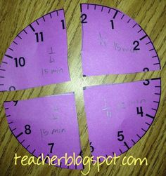 How Can Your Students Learn About Clock Fractions? | Teacher Blog Spot