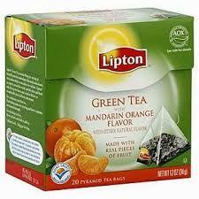 pirámides de té lipton - Tè Verd amb mandarina