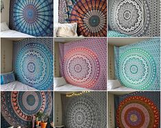 Hippie Bohemian Indian Mandala Tapestry Wall Hanging Bedspread   Etsy Bohemian Bedspread, Bohemian Tapestry, Indian Tapestry, Boho Bedding, Mandala Tapestry, Hippie Bohemian, Sun And Moon Tapestry, Indian Mandala, Quilts For Sale