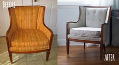 Graham I Am: Create - Before & After - Reupolstering A Craigslist Chair