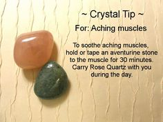 ✯ Crystal Tip: For Aching Muscles ✯ https://www.etsy.com/ca/shop/MagickalGoodies
