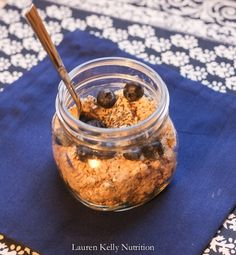 No Cook Overnight Oats ~ Lauren Kelly Nutrition