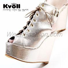 $35.99 Gold Platforms Boots