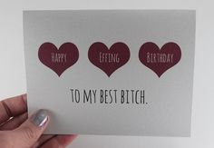 Customizable Friend Birthday Card / Best Friend Card by BEpaperie #bestbitches #birthdaycard #etsy