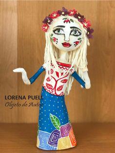 Figura decorativa materiales diversos y resinas