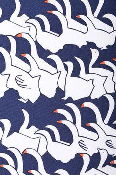 スワンレイクプリント - geese pattern