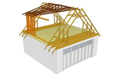 Here is an idea of how building a dormer to your loft space works. Dormers extend the usable space (i. extra space to walk in at full height) for your sleeping loft. Garage Building Plans, Building A Shed, Attic Truss, Detail Architecture, Shed Dormer, Garage Loft, Cottages And Bungalows, Bungalow House Plans, Attic Conversion