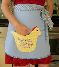Items similar to Country Style Apron Vintage Apron Chicken Pocket Applique Chefs Apron BBQ Apron on Etsy Bbq Apron, Chef Apron, Fabric Crafts, Sewing Crafts, Sewing Projects, Chicken Pockets, Sewing Aprons, Aprons Vintage, Textiles