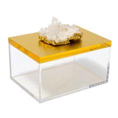 Mapleton Drive Acrylic Box with Quartz Crystal