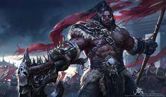 Grom Hellscream by Qichao Wang | World of Warcraft