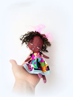 Hey, I found this really awesome Etsy listing at https://www.etsy.com/listing/231390465/littledoll-latifagirl-cloth-doll-art