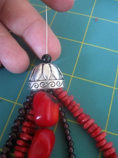 Make A Multi Strand Necklace With Bead Cones   #beading #tutorial