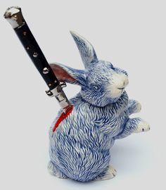 Run, little rabbit. //Charles Krafft. #charleskrafft http://www.widewalls.ch/artist/charles-krafft/
