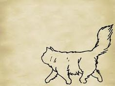 fluffy cat outline - Pesquisa Google