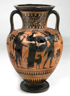 Attic pottery is the iconic red and black figure-pottery produced in ancient Greece from the 6th to the 4th centuries B.C. Description from phys.org. I searched for this on bing.com/images