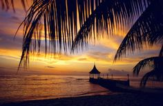 Sunset over Half Moon Hotel, Montego Bay, Jamaica.