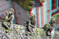 https://flic.kr/p/EVyCk2   Figurines Buttresses St.Johns Cathedral Den Bosch 3D   anaglyph stereo red/cyan
