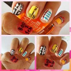 Back to school nail art School Nail Art, Back To School Nails