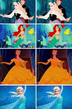 The waist sizes are realistic either way, and they look great no matter what, but Ariel and Belle were actually based off of an actual person, and plenty of people have the original waist sizes.