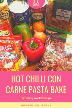 Slimming World hot chilli con carne recipe Slimming World Pork Recipes, Slimming World Pasta, Worlds Hottest Chilli, Chilli Pasta, Chilli Con Carne Recipe, Tinned Tomatoes, Baked Pasta Recipes, Healthy Food, Healthy Recipes