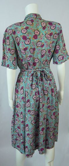 Etsy listing: 1940's CC41 Crepe Dress