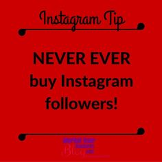 Instagram Tip: NEVER EVER buy Instagram followers!  They tend to be old followers often inactive.  Bought followers are not targeted therefore they are highly unlikely to be interested in your business or what you have to offer.    Want to learn more about building your business using Instagram? Or want to work closely with me? Click the link in my bio and join my community!  #marketyourbusinessblog