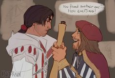 """Ezio's face tho like """"I don't give a shit about how exciting it is just do it."""""""