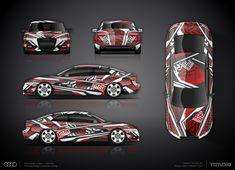 Dazzle camouflage part wrap design