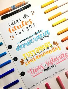 Blending Brush Lettering with a Water Brush Bullet Journal School, Bullet Journal Titles, Journal Fonts, Bullet Journal Inspiration, School Notebooks, Pretty Notes, Lettering Tutorial, School Notes, Study Notes
