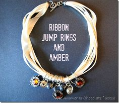 Ribbon, jump rings, and charms. All you need to make this gorgeous necklace from @Carol at The Answer is Chocolate!