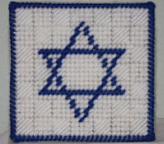 A box with the Star of David. Choose between a white box with a blue star or a blue box with a gold star. Item is made to order. Plastic Canvas Christmas, Plastic Canvas Crafts, Plastic Canvas Patterns, Box Patterns, Craft Patterns, Tissue Box Covers, Tissue Boxes, Crochet Projects, Sewing Projects