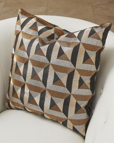 Accent Pillows, Throw Pillows, Floor Pillows, Amity Home, Sewing Art, Triangle Pattern, Quilted Pillow, Marquetry, Square Quilt