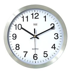 HITO 12 Inches Silent Non-ticking Wall Clock w/ Metal Frame and Acrylic Front Cover (Silver-Arabic) hito http://www.amazon.com/dp/B0114997I6/ref=cm_sw_r_pi_dp_PGmIwb0YY589A
