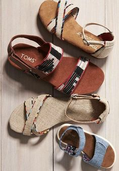 Summer sandals fit for the whole family.