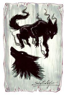 """Ein Schattenläufer aus """"Herz aus Schatten"""" - Illustration von Anja Uhren Moose Art, Illustration, Books, Animals, Shadows, Heart, Libros, Animales, Animaux"""