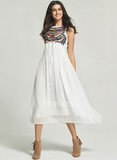 Dress - $19.56 - Polyester Tartan Sleeveless Maxi Casual Dresses (1955129808)