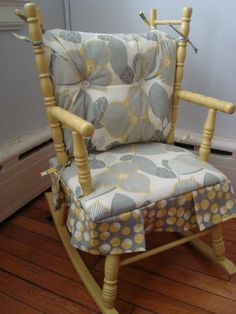 Vintage Solid Wood Rocking Chair Ladder Back And