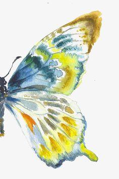 Articles similaires à Aile de papillon d'or bleu sur Etsy - Notecards Diy Butterfly Sketch, Butterfly Painting, Butterfly Watercolor, Butterfly Wings, Watercolor Paintings, Blue Butterfly, Watercolor Pallet, Butterfly Artwork, Simple Butterfly