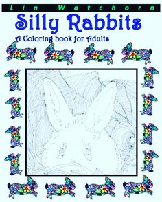 Cute Rabbit Coloring Book Artoftheday Artwork Black Blackandwhite Flowers Illustration
