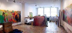 image: Brian Rutenberg Art Studio, New York City