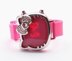 hello kitty watch | Hello Kitty Adult Digital Watch: Pink Rhinestone