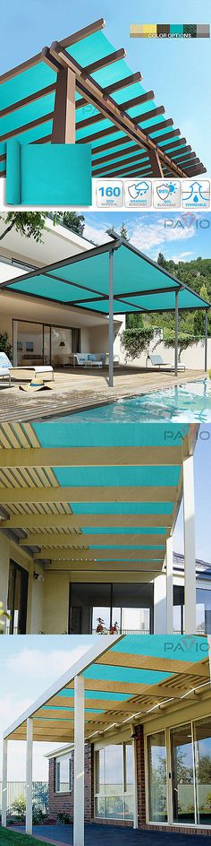 Privacy Screens Windscreens 180991: Turquoise Sun Shade Fabric Cloth Mesh  Roll 95% Block Outdoor