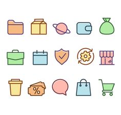 Free General Color Icons Set #freebie #freeicons #psdicons #svg #vectoricons #outlineicons