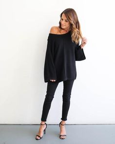We are loving our Afternoon Daydream Ribbed Cashmere Sweater for its ultra soft feel and relaxed fit! This sweater stretches with you so feel free to sport it off one shoulder if you feel! The wide sl