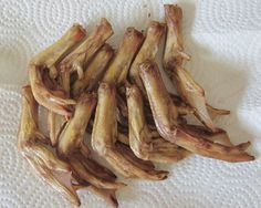 """Made these on 6/1/13 - My oven's lowest temp is 300F, and I """"cooked"""" them for 3.5 hours.  Daisy LOVES them :)  ~~~~~~~  How To Make Dehydrated Duck Feet Dog Treats"""