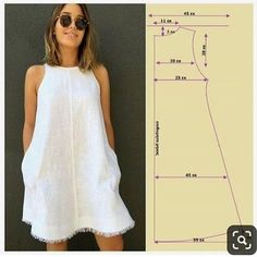 Ideas dress pattern sewing women for 2019 Diy Clothing, Sewing Clothes, Clothing Patterns, Sewing Hacks, Sewing Tutorials, Sewing Tips, Sewing Projects, Dress Tutorials, Free Sewing