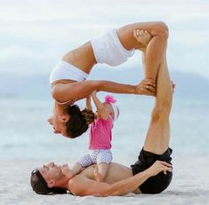 Family yoga session