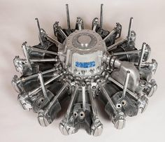1960s Nine Cylinder Supercharged Radial Engine Low Table