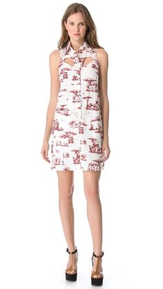 shirtdress with cut-outs